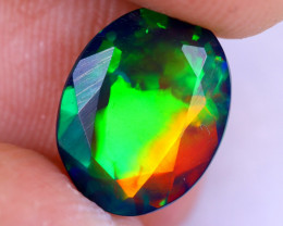 1.80cts Natural Ethiopian Welo Faceted Smoked Opal / NY2061