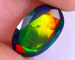 1.35cts Natural Ethiopian Welo Faceted Smoked Opal / NY2066