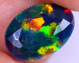 2.11cts Natural Ethiopian Welo Faceted Smoked Opal / NY2067