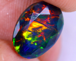 1.56cts Natural Ethiopian Welo Faceted Smoked Opal / NY2068