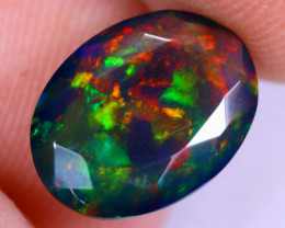 1.91cts Natural Ethiopian Welo Faceted Smoked Opal / NY2069