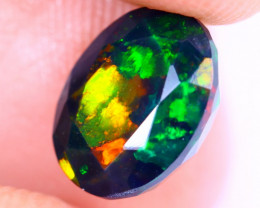 1.79cts Natural Ethiopian Welo Faceted Smoked Opal / NY2036