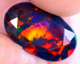 1.38cts Natural Ethiopian Welo Faceted Smoked Opal / NY2037
