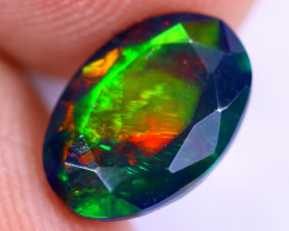 1.81cts Natural Ethiopian Welo Faceted Smoked Opal / NY2038
