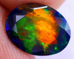 1.34cts Natural Ethiopian Welo Faceted Smoked Opal / NY2041