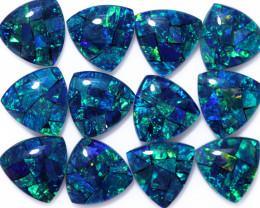 16 Cts  Tri Australian Opal Triplet Mosaic     CCC 3137