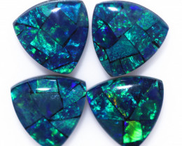 3 Cts  Tri Australian Opal Triplet Mosaic     CCC 3231
