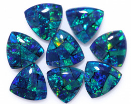 6 Cts  Tri Australian Opal Triplet Mosaic     CCC 3143
