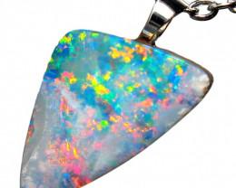 Australian Opal Pendant Sterling Silver 4.95ct Doublet RRP:$235