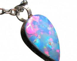 Australian Opal Pendant Sterling Silver 1.95ct Doublet RRP:$100