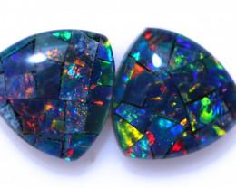 1.8 Cts  Tri Australian Opal Triplet Mosaic     CCC 3158