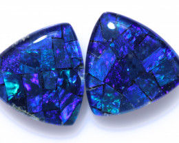 4.00 Cts  Tri Australian Opal Triplet Mosaic     CCC 3170