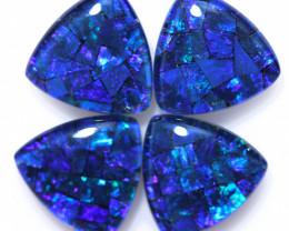 8 Cts  Tri Australian Opal Triplet Mosaic     CCC 3177