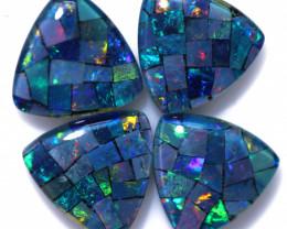 8 Cts  Tri Australian Opal Triplet Mosaic     CCC 3180