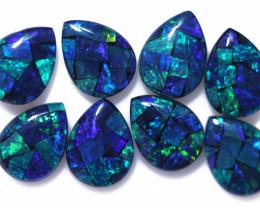 5.80 Cts Pear Drop Australian Opal Triplet Mosaic  CCC 3184