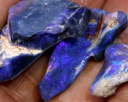 36.15cts lightning ridge black opal rough parcel ADO-8299
