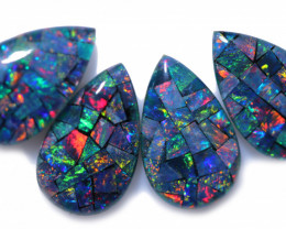 8.50 Cts Pear Drop Australian Opal Triplet Mosaic  CCC 3210