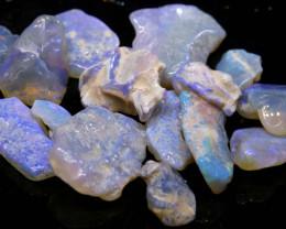 24.50cts lightning ridge crystal opal rough parcel ado-8303