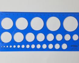 NO RESERVE!! 20cm CircleOpalTemplate  Dark Blue [32826] 53FROGS