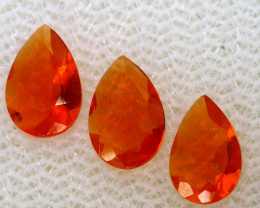 0.56 CTS MEXICAN FACETED FIRE OPAL PARCEL FOB -2483