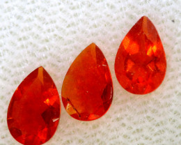 0.66 CTS MEXICAN FACETED FIRE OPAL PARCEL FOB -2484