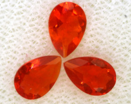 0.70 CTS MEXICAN FACETED FIRE OPAL PARCEL FOB -2487