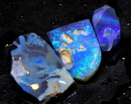 23.50cts lightning ridge  opal rough parcel  ado-8341
