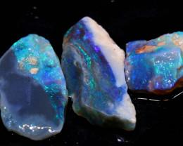 12.05cts lightning ridge  opal rough parcel  ado-8344-adopals