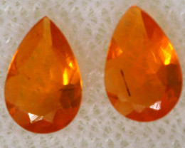 0.41 CTS MEXICAN FACETED FIRE OPAL PAIR FOB - 2497