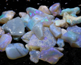 35.10cts lightning ridge crystal opal rough parcel ado-8351