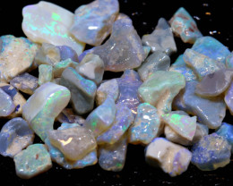 32.20cts lightning ridge crystal opal rough parcel ado-8352