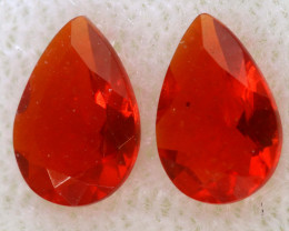 0.34 CTS MEXICAN FACETED FIRE OPAL PAIR FOB -2499
