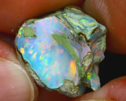 10.82Ct Multi Color Play Ethiopian Welo Opal Rough JF1217/R2