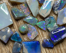 78.50 ct Opal Rough Lot Black Opals Lightning Ridge BORC100321