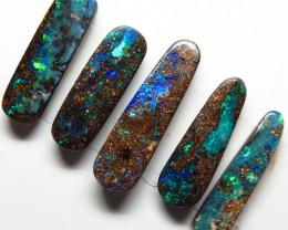 12.09ct Australian Boulder Opal 5 Stone Parcel