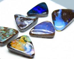 10.98ct Australian Boulder Opal 6 Stone Parcel