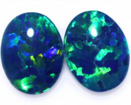2.50 Cts Australian Triplet Opals Pairs CCC 3284