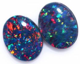 2.50 Cts Australian Triplet Opals Pairs CCC 3289