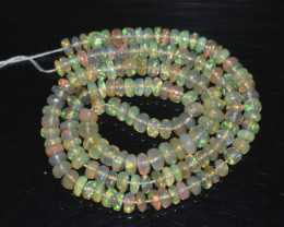 45.35 Ct Natural Ethiopian Welo Opal Beads Play Of Color OB317