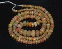 51.50 Ct Natural Ethiopian Welo Opal Beads Play Of Color OB318