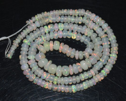 32.65 Ct Natural Ethiopian Welo Opal Beads Play Of Color OB319