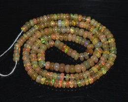 32.80 Ct Natural Ethiopian Welo Opal Beads Play Of Color OB320