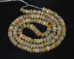 47.35 Ct Natural Ethiopian Welo Opal Beads Play Of Color OB322