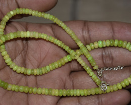 ETHIOPIAN OPAL BEADS NECKLACE BEADS STERLING SILVER OBJ-246