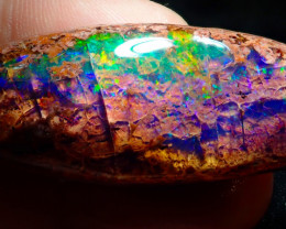 $1 NR Auction 53.05ct Mexican Matrix Cantera Multicoloured Fire Opal