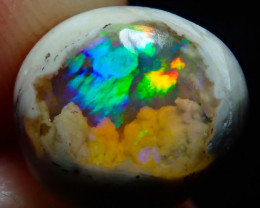 $1 NR Auction 3.85ct Mexican Matrix Cantera Multicoloured Fire Opal