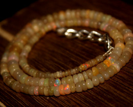 58 Crts Natural Ethiopian Welo Opal Beads Necklace 3201