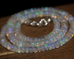 77 Crts Natural Ethiopian Welo Opal Beads Necklace 3214