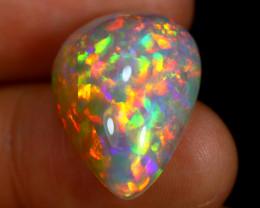 13.27cts Natural Rainbow Multifire Ethiopian Welo Opal
