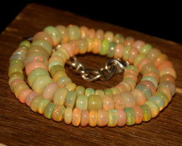 105 Crts Natural Ethiopian Welo Opal Beads Necklace 3240